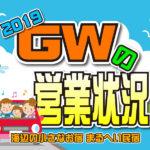 GWの営業状況(2019)/まるへい民宿